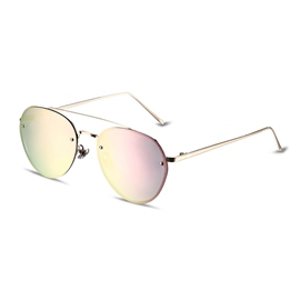 Ericdress Full Frame Polarized Frog Mirror Women's Sunglasses