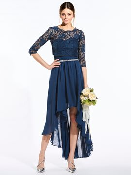 Ericdress Elegant Sweetheart Beaded Asymmetry Bridesmaid Dress With Jacket