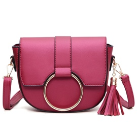 Ericdress Personality Circle Tassel Mini Crossbody Bag