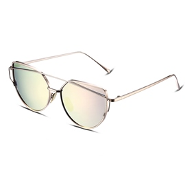 Ericdress Metal Full Frame Twin-Beams Design Women's Sunglasses