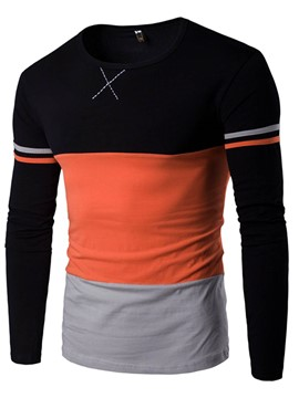 Ericdress Color Block Unique Casual Men's T-Shirt