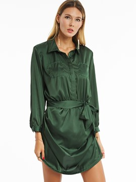 Ericdress Green Long Sleeve Women's Rompers