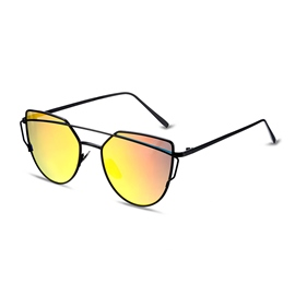 Ericdress Retro Twin-Beams Metal Frame Ellipse Sunglasses