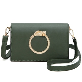 Ericdress Circle Coiled Snake Decorated Crossbody Bag