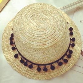 Ericdress Balls Decorated All-Matched Women's Straw Hat