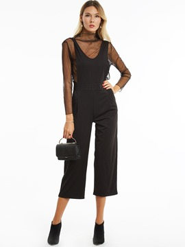 Slim Hollow Wide Legs Jumpsuit