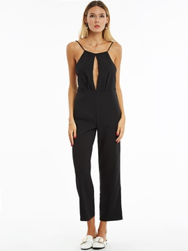 Ericdress Black Sleeveless European Women's Jumpsuits