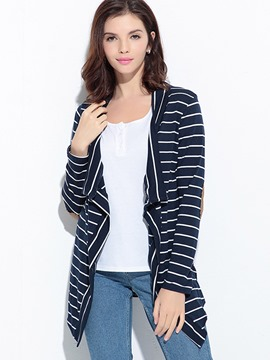 Ericdress Stripe Patchwork Mid-Length Knitwear