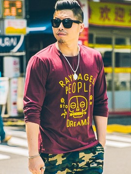 Ericdress Street Style Plus Size Loose Long Sleeve Men's T-Shirt