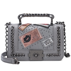 Ericdress Vintage Badge Design Messenger Crossbody Bag