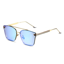 Ericdress Green Square Lenses Sunglasses without Border