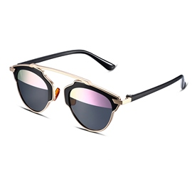 Ericdress Half Pink Lens Design Women's Polarized Sunglasses