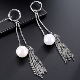 Ericdress Vogue Alloy Tassels Pearl Decorated Long Earrings