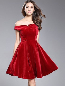 Ericdress Solid Color Sleeveless Expansion A Line Dress