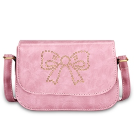 Ericdress Solid Color Rivets Bowknot Decorated Shoulder Bag