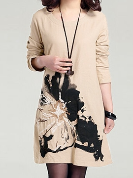 Ericdress Printed Casual Dress