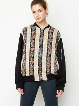 Ericdress Loose Printed BF Jacket