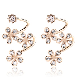 Ericdress Sweet Flower Design Alloy Curve Ear Clips