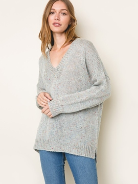 Ericdress Loose V-Neck Pullover Knitwear