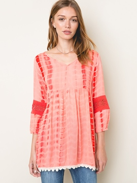 Ericdress Patchwork Mid-Length Blouse
