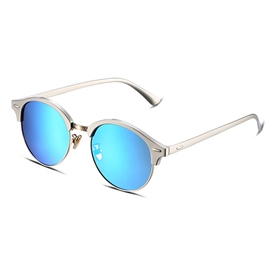 Ericdress Silver Alloy Frame HD Blue Lenses Women's Sunglasses