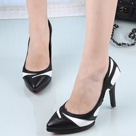 Ericdress Graceful Contrast Color Point Toe Pumps