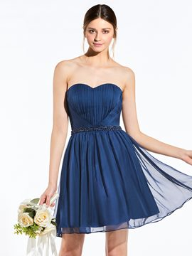 Ericdress Classic Sweetheart Beaded A Line Short Bridesmaid Dress
