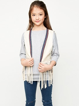 Ericdress Tassel Wrapped Short Suspenders Girls Outerwear