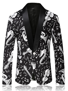 Ericdress Unique Vogue Print Slim Quality Men's Blazer