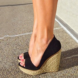 Ericdress Kintting Cut Out Wedge Sandals