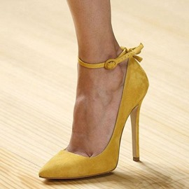 Ericdress Yellow Slim Ankle Strap Point Toe Prom Shoes