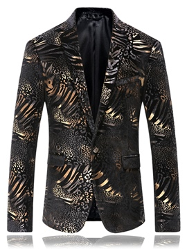 Ericdress Quality Print One Button Elegant Men's Blazer