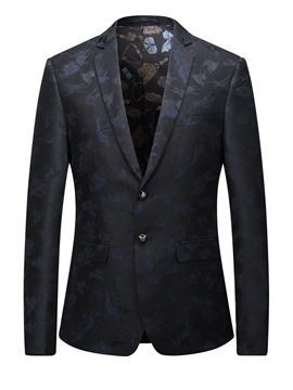 Ericdress Single-Breasted Classic Elegant Print Men's Blazer